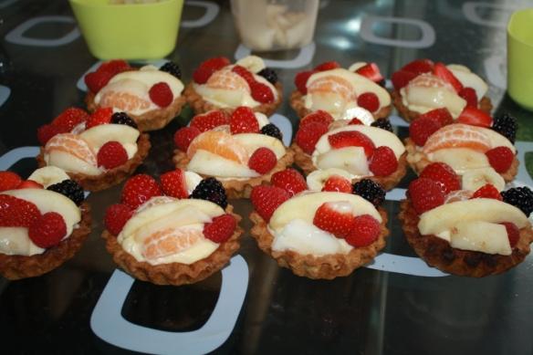 fruittaartjes leggen